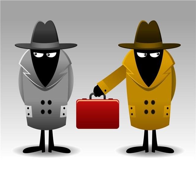 два спецагента передают чемодан