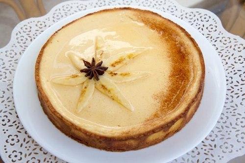 Банановый тарт с йогуртовым кремом