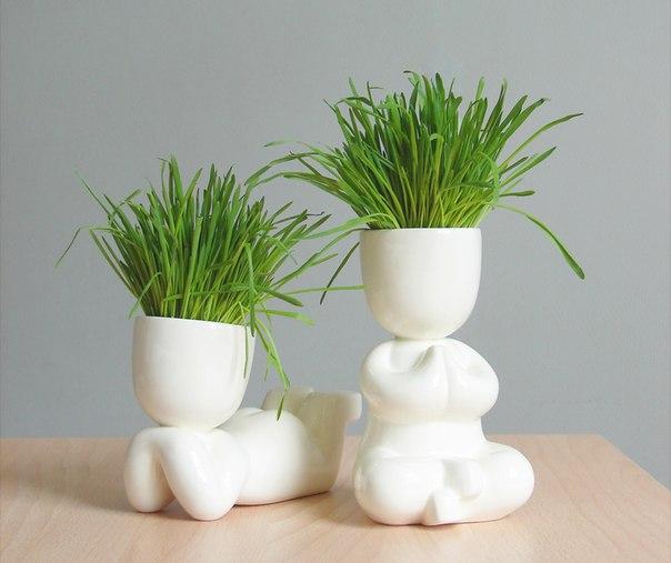 Как сделать травяных человечков своими руками