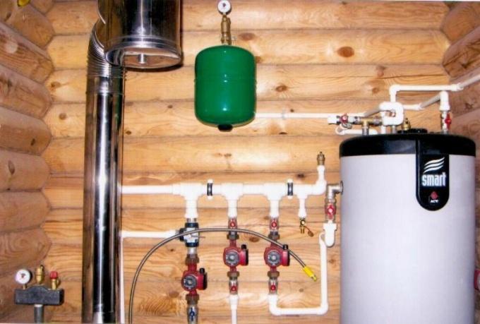 Отопление деревянного дома газом