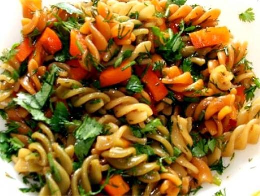 Как приготовить макароны с овощами