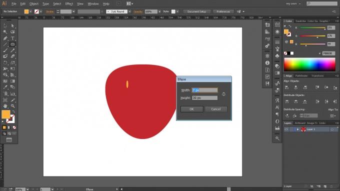 Как нарисовать клубнику в Adobe Illustrator