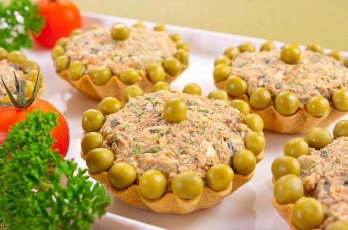 Как приготовить тарталетки с салатом из куриной печени