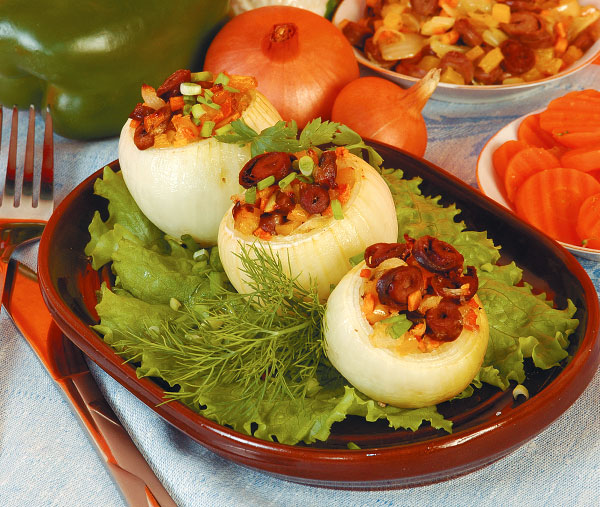 Как приготовить фаршированные луковицы