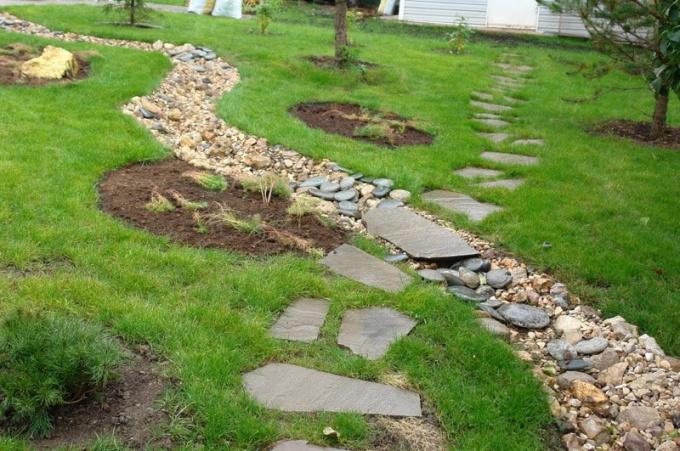 Как самостоятельно сделать каменные дорожки на даче