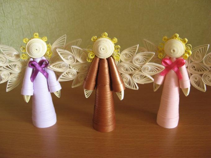 Как сделать ангела в технике квиллинг