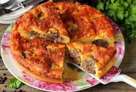 Пирог из тефтелей