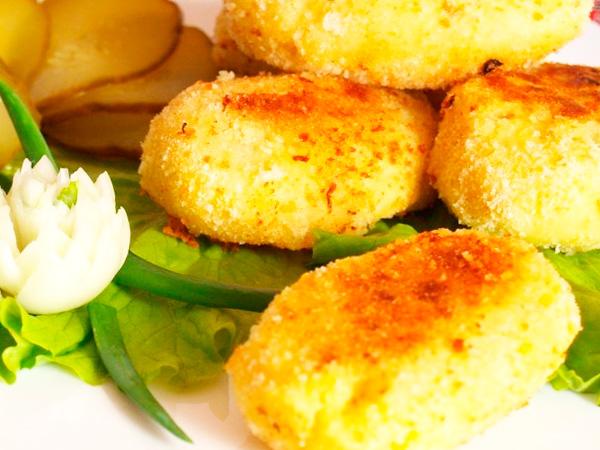 Зразы картофельные с мясом и грибами