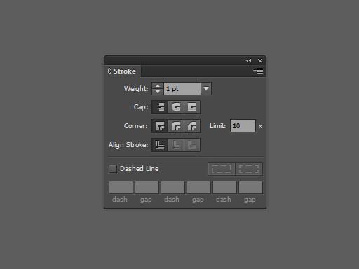 Панель Stroke в Adobe Illustrator