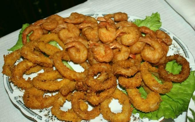 Очень вкусные кальмары в панировке