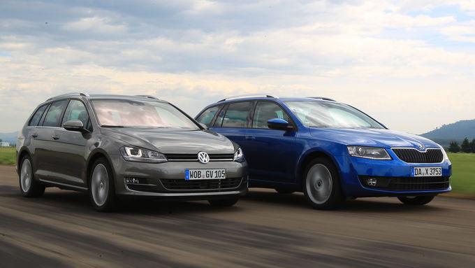 Volkswagen Golf Variant против Skoda Octavia Combi