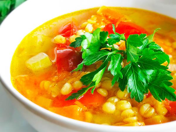 Приготовить гороховый суп с овощами