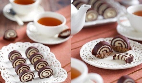 Как приготовить рулет из печенья?