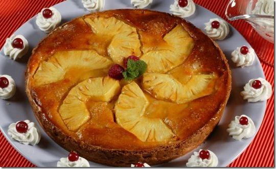 Как приготовить пирог с ананасом и миндалем