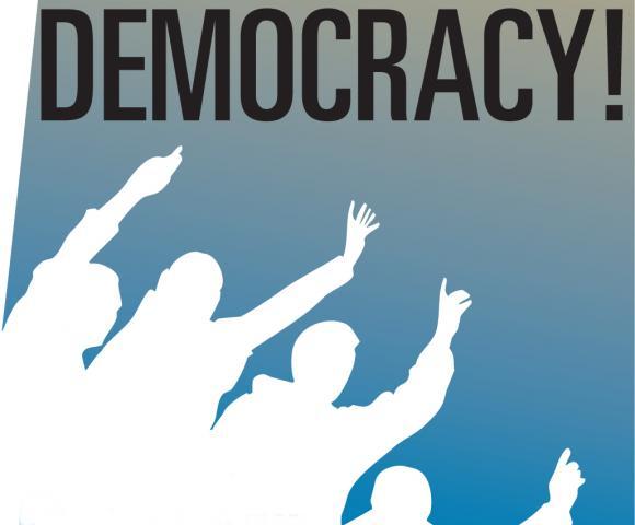Плакат, прославляющий демократию