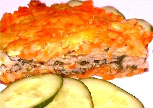 Изумительно вкусная рыбная запеканка с овощами