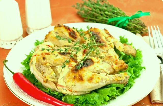 Вкусный цыпленок под кремом