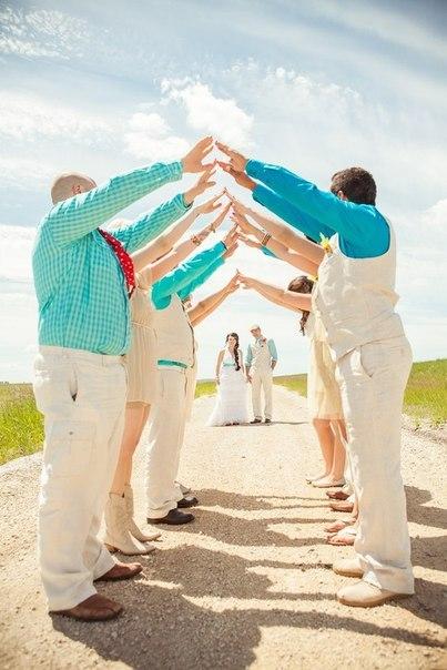Как можно задействовать гостей во время свадебной фотосессии