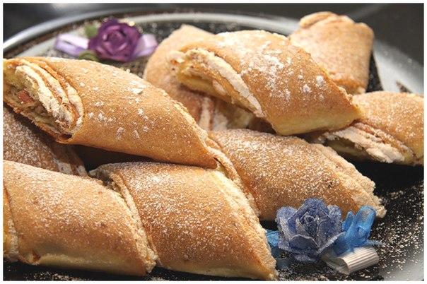 Как приготовить рулет-печенье с грецкими орехами и безе