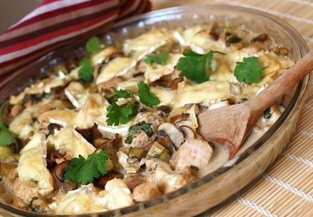 Как готовить куриное филе с грибами и сливками