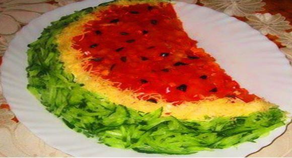 Готовим салат «Арбузная долька»