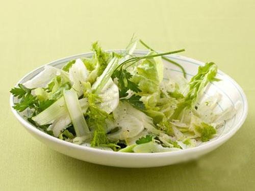 Как приготовить салат из фенхеля и сельдерея