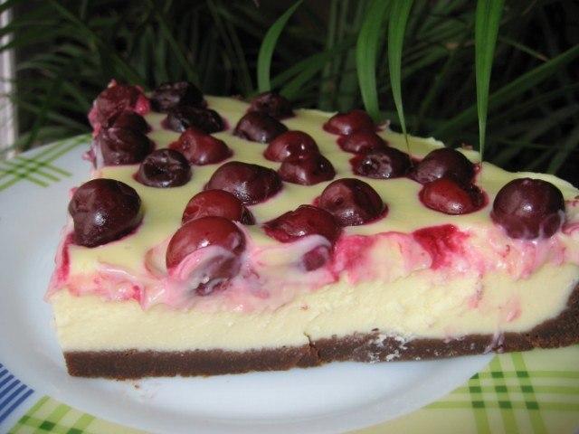 Как приготовить творожный тарт с вишней