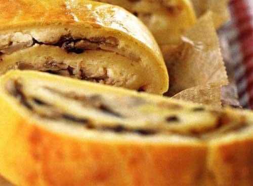 Как приготовить картофельный рулет с грибами
