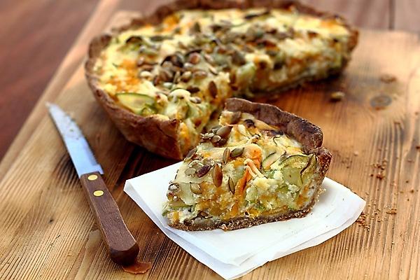 Как приготовить киш с овощами и козьим сыром