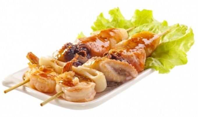 Как приготовить шашлычки из морепродуктов