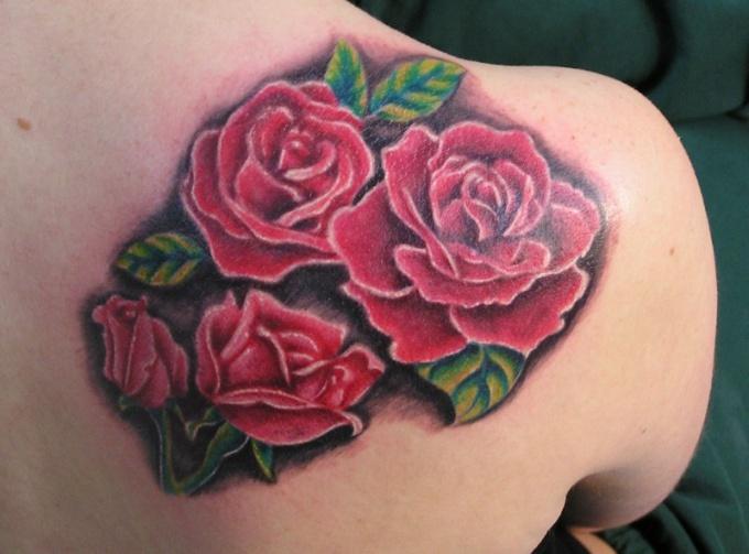 Татуировка в виде розы имеет много значений!