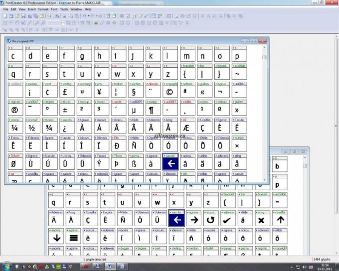 FontCreator - редактор шрифтов.