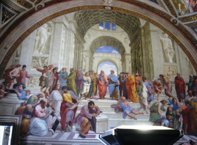 Ancient philosophers in the picture of Raphael Santi