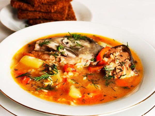 Суп гречневый с шампиньонами на квасе