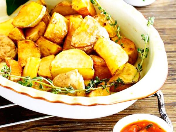 Картофель, жареный с соусом айоли