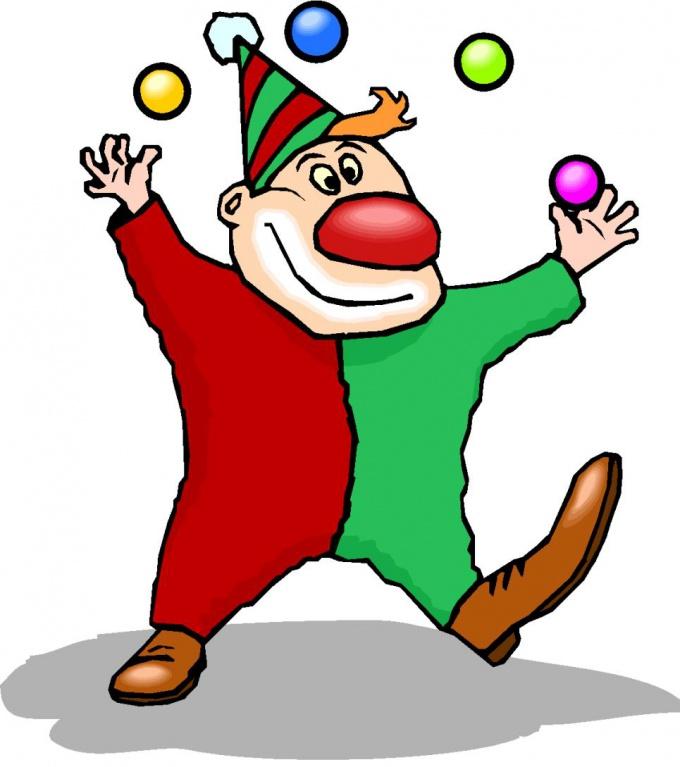 клоун-жонглер
