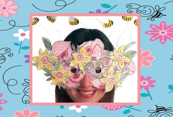 маска с цветами