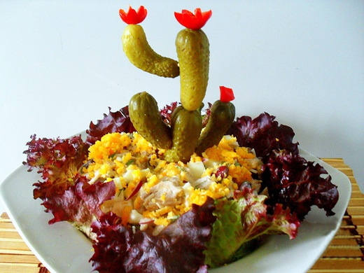 "Готовим салат ""Цветущий кактус"""
