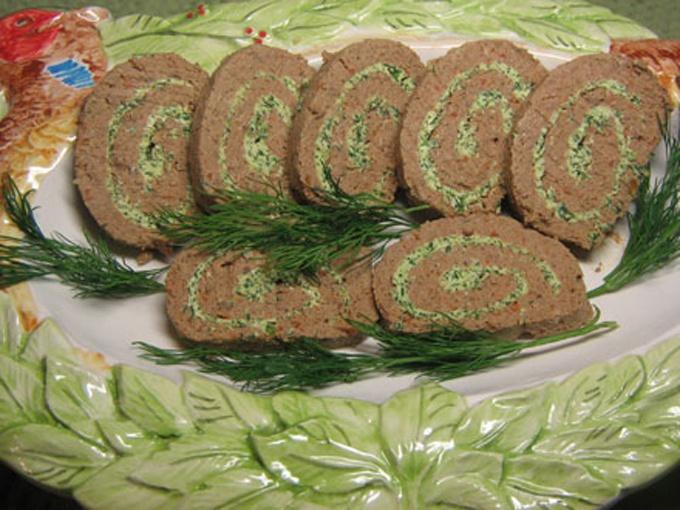 Печёночный рулет рецепт с фото пошагово из свиной печени
