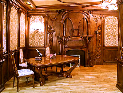 The art Nouveau style(Jugendstil) in the interior