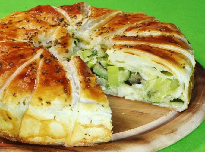 Овощные пироги рецепты 135
