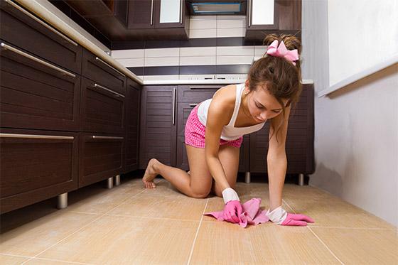 Как  мыть полы: маленькие хитрости