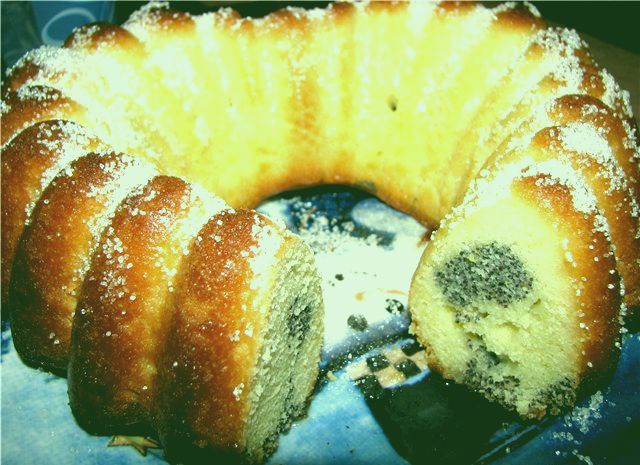 Сочный и нежный лимонный кекс с маком