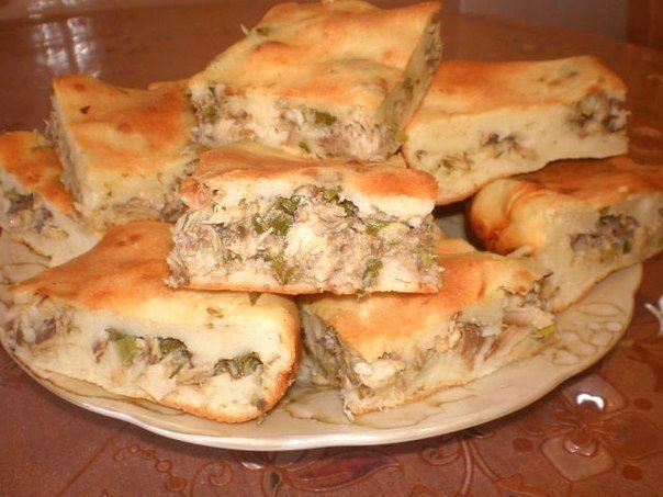 Вкусный рыбный пирог с авокадо
