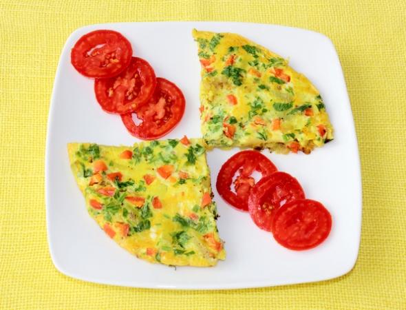 Как приготовить овощной омлет на завтрак