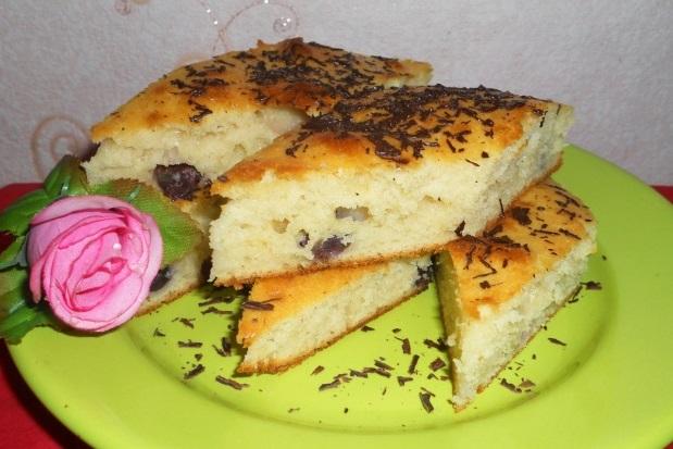 Пирог-кекс с виноградом