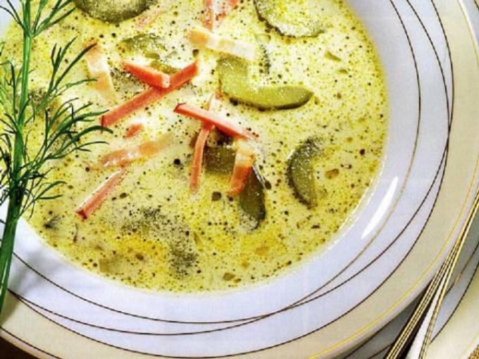 Огуречно-сливочный суп-пюре