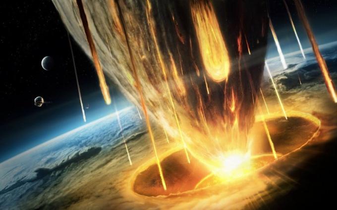 Столкновение астероида с Землей - один из вариантов конца света