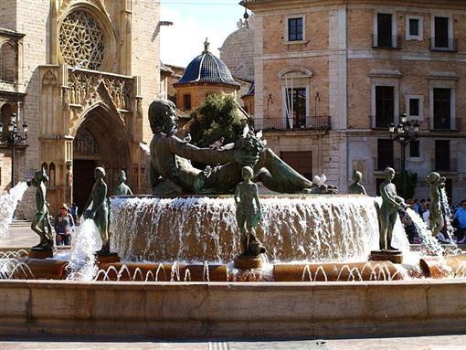 Фонтан в Валенсии