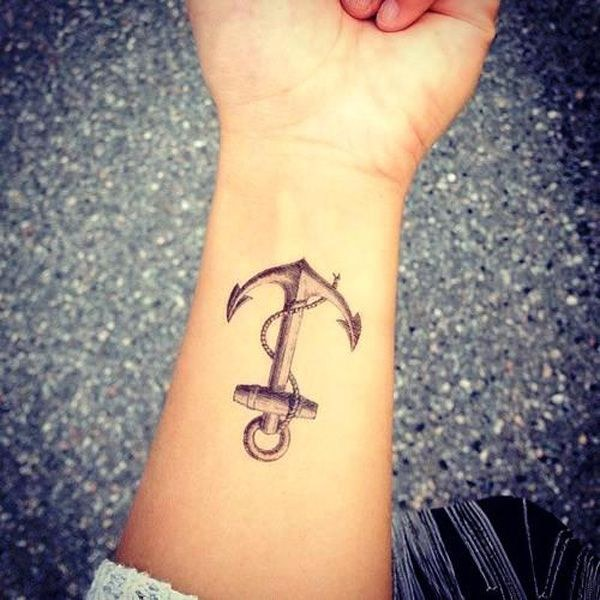 What does the tattoo have as an anchor